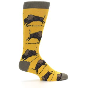 Image of Yellow Buffalo Men's Dress Socks (side-1-24)