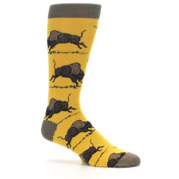Image of Yellow Buffalo Men's Dress Socks (side-1-25)