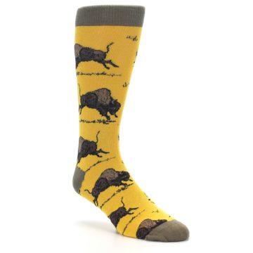 Image of Yellow Buffalo Men's Dress Socks (side-1-27)