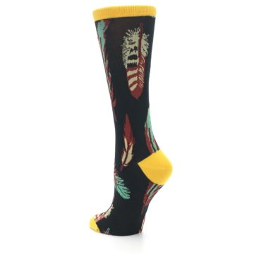 Image of Black Feathers Bamboo Women's Dress Socks (side-2-back-15)
