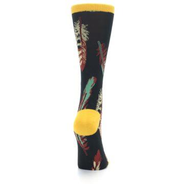 Image of Black Feathers Bamboo Women's Dress Socks (side-1-back-20)