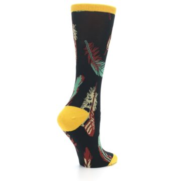 Image of Black Feathers Bamboo Women's Dress Socks (side-1-23)