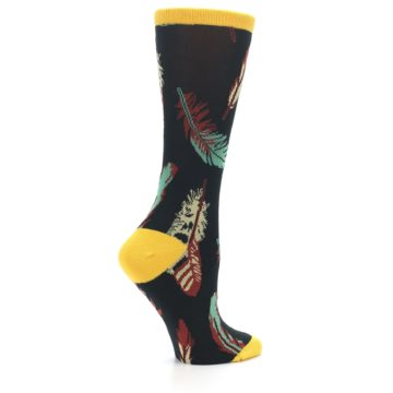 Image of Black Feathers Bamboo Women's Dress Socks (side-1-24)