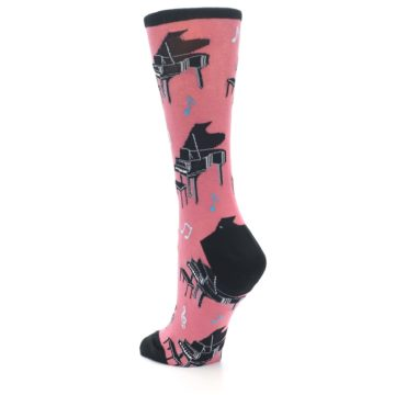 Image of Pink Baby Grand Piano Women's Dress Socks (side-2-back-15)