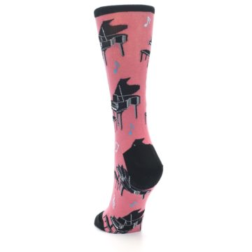 Image of Pink Baby Grand Piano Women's Dress Socks (side-2-back-16)