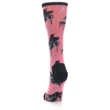 Image of Pink Baby Grand Piano Women's Dress Socks (back-17)