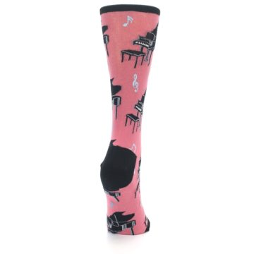 Image of Pink Baby Grand Piano Women's Dress Socks (side-1-back-20)