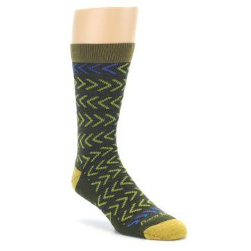 Darn Tough Chevron Green Men's Socks