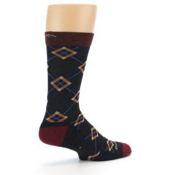 Image of Charcoal Argyle Wool Men's Socks (side-1-23)