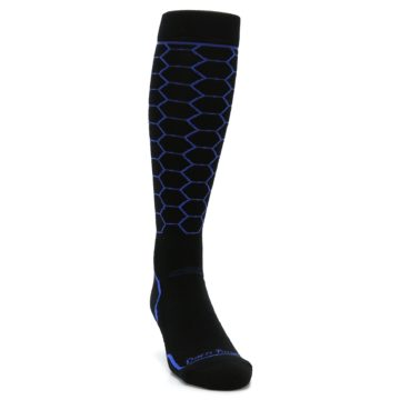 Image of Black Honeycomb Wool Men's Over-the-Calf Ski Socks (side-1-front-03)