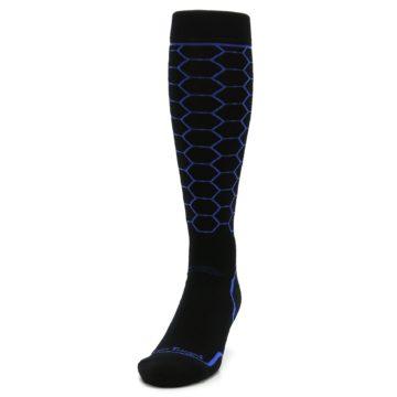 Image of Black Honeycomb Wool Men's Over-the-Calf Ski Socks (side-2-front-06)