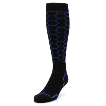 Image of Black Honeycomb Wool Men's Over-the-Calf Ski Socks (side-2-front-07)