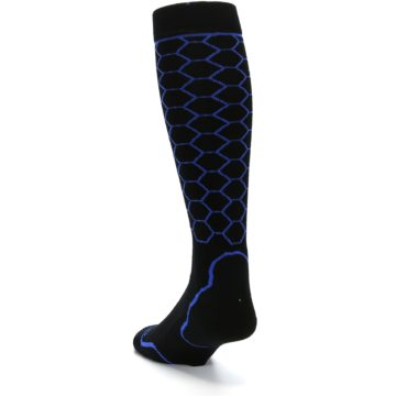Image of Black Honeycomb Wool Men's Over-the-Calf Ski Socks (side-2-back-16)