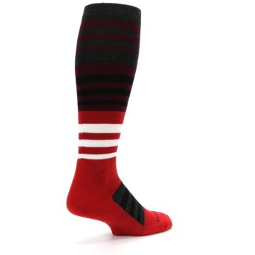 Image of Red Stripe Wool Men's Over-the-Calf Ski Socks (side-1-back-22)
