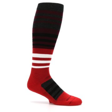 Image of Red Stripe Wool Men's Over-the-Calf Ski Socks (side-1-25)