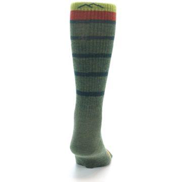 Image of Green Stripe Wool Men's Hiking Socks (back-19)