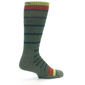 Image of Green Stripe Wool Men's Hiking Socks (side-1-23)