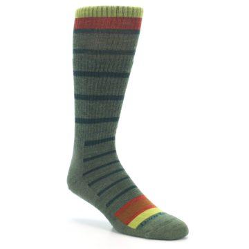 Image of Green Stripe Wool Men's Hiking Socks (side-1-27)