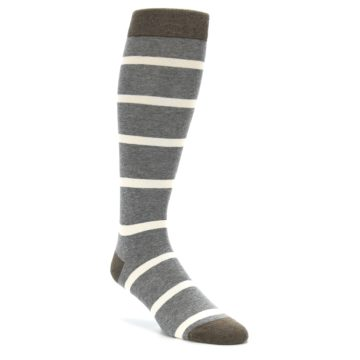 Grey Stripe Over the Calf Soxford Socks
