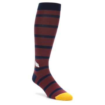 Soxfords Flight of Fancy Maroon Over the Calf Socks