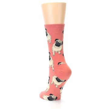 Image of Coral Pug Socks – Women's Novelty Socks (side-2-back-15)