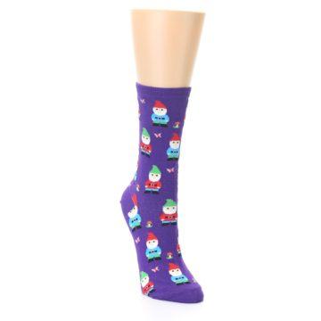 Image of Purple Gnomes Women's Dress Socks (side-1-front-02)