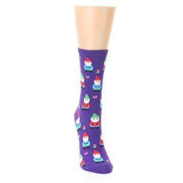 Image of Purple Gnomes Women's Dress Socks (side-1-front-03)