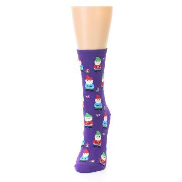 Image of Purple Gnomes Women's Dress Socks (side-2-front-06)
