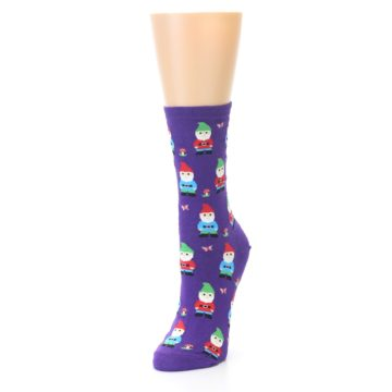 Image of Purple Gnomes Women's Dress Socks (side-2-front-07)