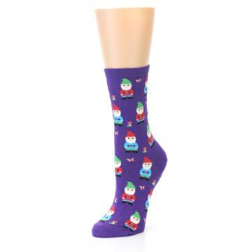 Image of Purple Gnomes Women's Dress Socks (side-2-front-08)