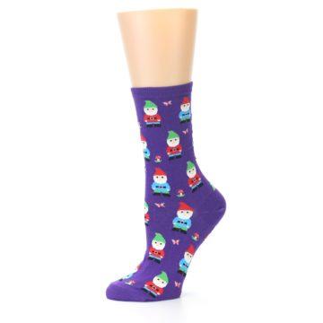 Image of Purple Gnomes Women's Dress Socks (side-2-10)