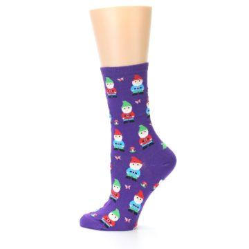 Image of Purple Gnomes Women's Dress Socks (side-2-12)