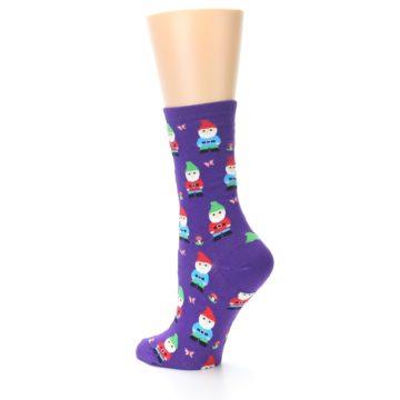 Image of Purple Gnomes Women's Dress Socks (side-2-back-14)