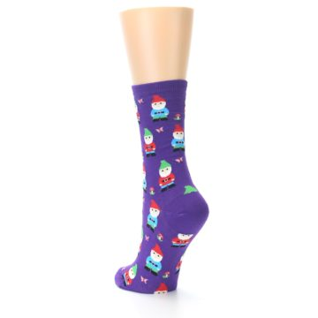 Image of Purple Gnomes Women's Dress Socks (side-2-back-15)
