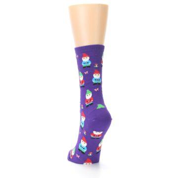 Image of Purple Gnomes Women's Dress Socks (side-2-back-16)