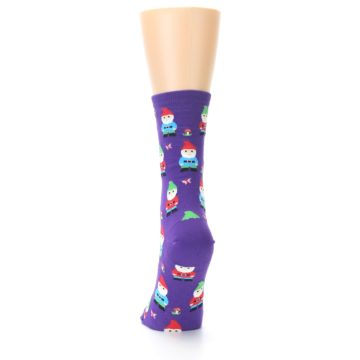 Image of Purple Gnomes Women's Dress Socks (back-17)