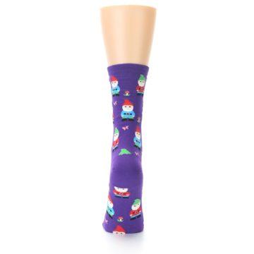 Image of Purple Gnomes Women's Dress Socks (back-18)