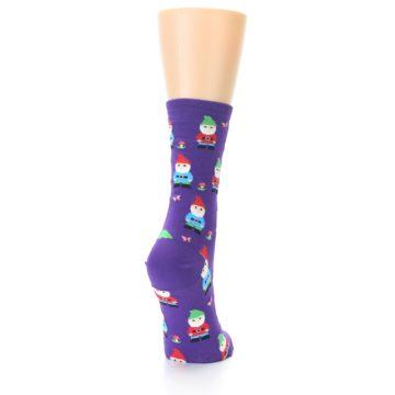 Image of Purple Gnomes Women's Dress Socks (side-1-back-20)