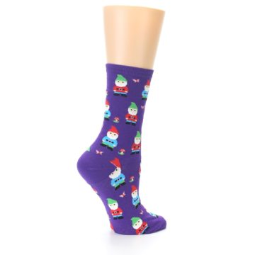 Image of Purple Gnomes Women's Dress Socks (side-1-23)