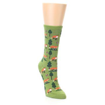 Image of Green Foxes Women's Dress Socks (side-1-front-02)