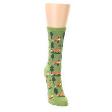Image of Green Foxes Women's Dress Socks (side-1-front-03)