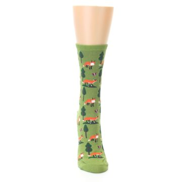 Image of Green Foxes Women's Dress Socks (front-04)
