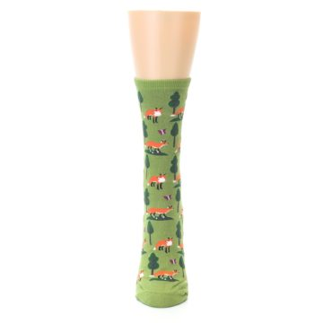 Image of Green Foxes Women's Dress Socks (front-05)