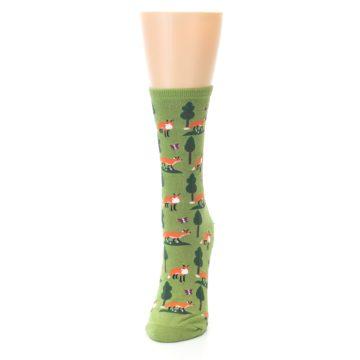 Image of Green Foxes Women's Dress Socks (side-2-front-06)
