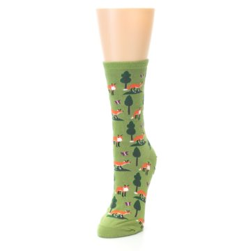 Image of Green Foxes Women's Dress Socks (side-2-front-07)