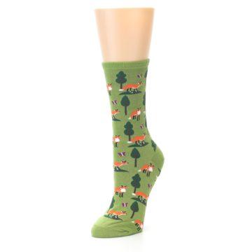 Image of Green Foxes Women's Dress Socks (side-2-front-08)