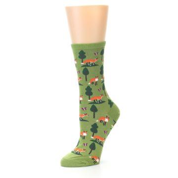 Image of Green Foxes Women's Dress Socks (side-2-09)