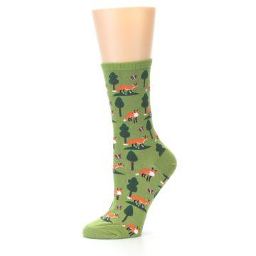 Image of Green Foxes Women's Dress Socks (side-2-10)