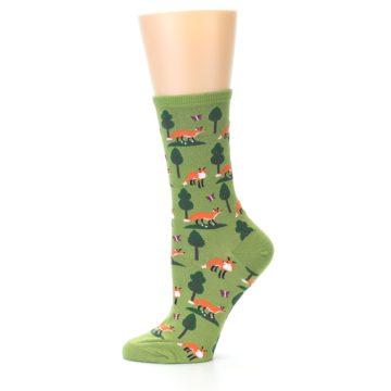 Image of Green Foxes Women's Dress Socks (side-2-11)