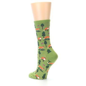 Image of Green Foxes Women's Dress Socks (side-2-back-14)